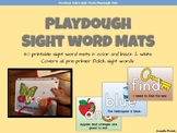 Sight Word Playdough Mats - Dolch Pre-Primer