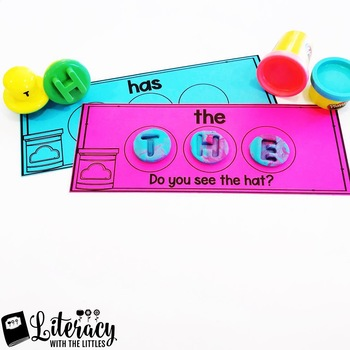 Sight Word Playdough Mats {For Playdough Letter Stamps}