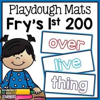 Sight Word Playdough Mats - Fry First 200