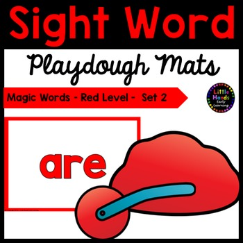 Sight Word Playdough Mats- Magic Words - Red Level