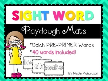 Sight Word Playdough Mats! PRE-PRIMER Version!