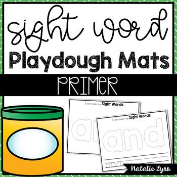 Sight Word Playdough Mats - Primer