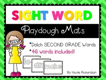 Sight Word Playdough Mats! SECOND GRADE Version!