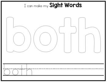 Sight Word Playdough Mats - Second Grade