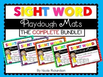 Sight Word Playdough Mats! THE BUNDLE!