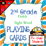 Sight Word Playing Cards: Dolch Second Grade