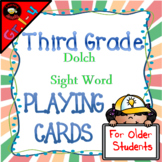 Sight Word Playing Cards: Dolch Third Grade