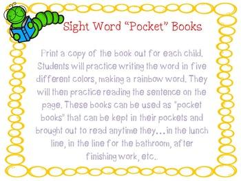 "Sight Word ""Pocket"" Books"