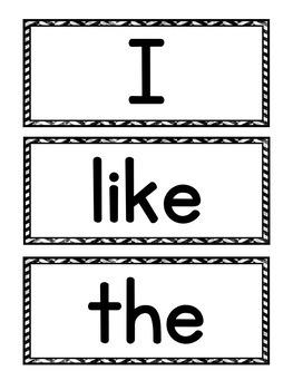 Journeys Sight Word Pocket Chart Center Kindergarten Units 1-6