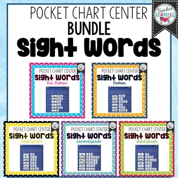 Sight Word Pocket Chart Center Bundle - High Frequency Words