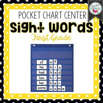 First Grade List Sight Word Pocket Chart Center