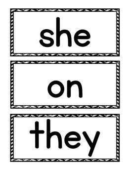 Primer Sight Word Pocket Chart Center