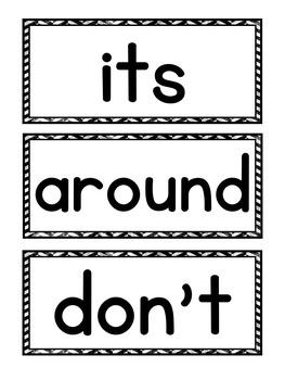 Dolch Sight Word Pocket Chart Center (Second Grade)