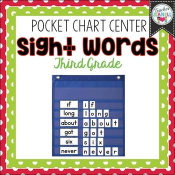 Sight Word Pocket Chart Center (Third Grade)