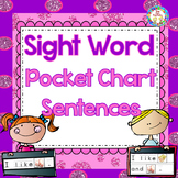 Sight Word Pocket Chart Sentences Activities {K-2} ~Common