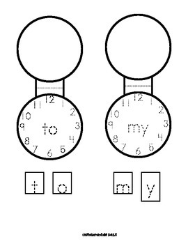 Sight Word Pocket-Locket FREEBIE