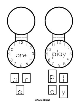 Sight Word Pocket-Lockets. Build Sight Words Letter by Letter to wear home