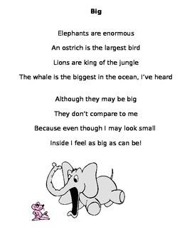 "Sight Word Poem: ""Big"""