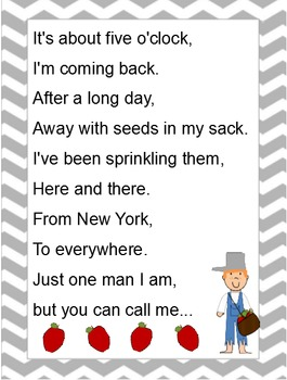 Sight Word Poem: Johnny Appleseed