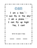 Sight Word Poem (can)