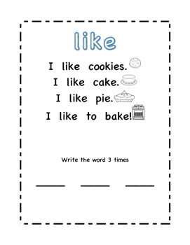 Sight Word Poems 2