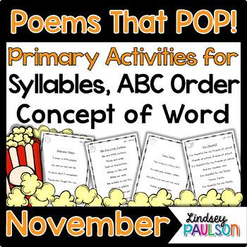 November Shared Reading & Poetry