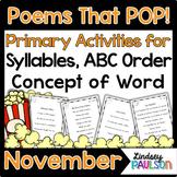 November Poems & Shared Reading