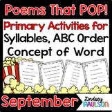 September Poems & Shared Reading