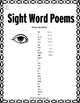 Sight Word Poems {For Beginning Readers}