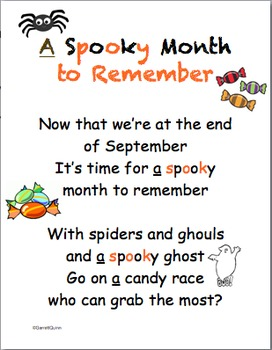 Sight Word Poems-September,October (Dolch)