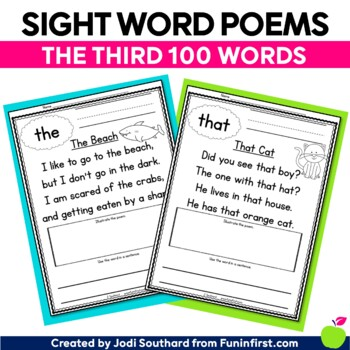 Sight Word Poems {Third 100 Sight Words}