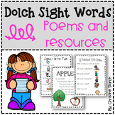 Dolch Sight Words: Poems, Worksheets, and Fluency Sentences
