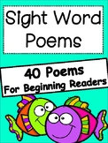 Sight Word Poems for Beginning Readers