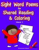 Sight Word Poems for Shared Reading & Coloring