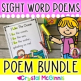 COMPLETE BUNDLE Sight Word Poems for Shared Reading  (Beginning Reader Poetry)