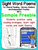 Sight Word Poems for Shared Reading & Literacy Stations Se