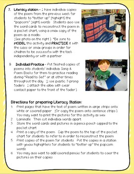 Sight Word Poems for Shared Reading and Literacy Stations - The BUNDLE