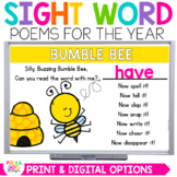 Digital & Print Sight Word Poetry for PowerPoint & Google