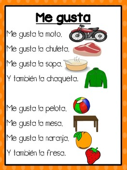 Sight Word Poems in Spanish