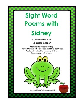 Sight Word Poems with Sidney