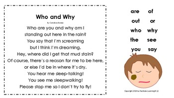 Sight Word Poems with Sidney Power Point Slides