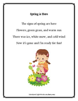 Sight Word Poetry Shared Reading Mini-Lessons
