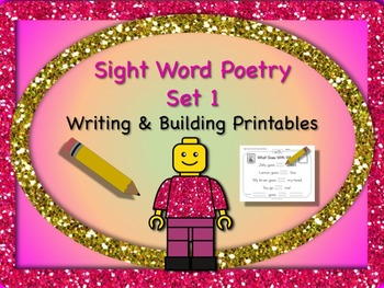 Sight Word Poetry Writing and Building with  Fry Words 1-2