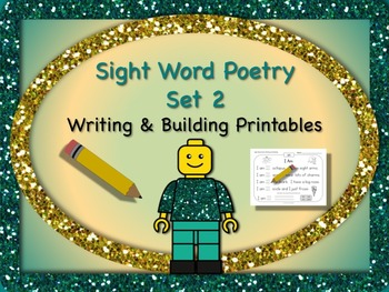 Sight Word Poetry Writing and Building with  Fry Words 26 - 50 Print & Go!