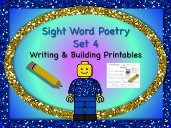 Sight Word Poetry Writing and Building with  Fry Words 76