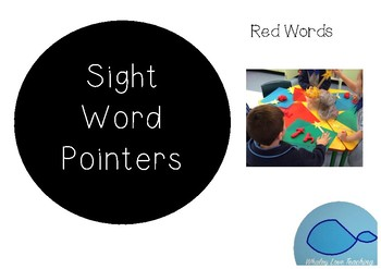 Sight Word Pointers - RED