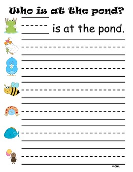 Sight Word Pond Literacy Center