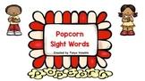 Sight Word Popcorn Game