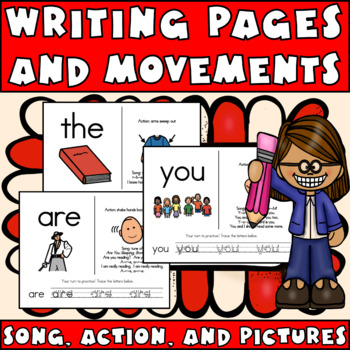 Sight Word (Popcorn) Songs FREEBIE: Wall Posters, Writing Pages & Audio