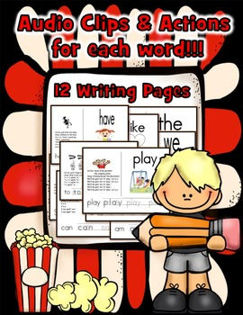 Sight Word (Popcorn) Songs Set 1: Posters, Flashcards, Writing Pages & Audio